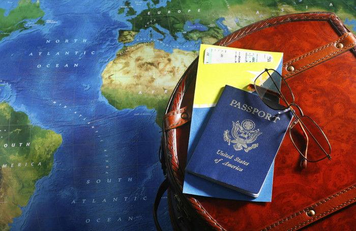 паспорт, земля, сумка