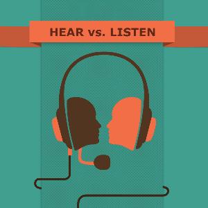 В чем разница между hear и listen?