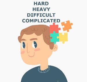 В чем разница между hard, difficult, complicated и heavy?