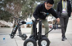 Самый маленький электрический скутер
